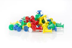 A colorful thumb tack Stock Photography