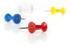 A colorful thumb tack Royalty Free Stock Photography