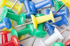 A colorful thumb tack Stock Photo