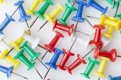 A colorful thumb tack Royalty Free Stock Photo