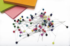 Colorful thumbtacks Royalty Free Stock Images