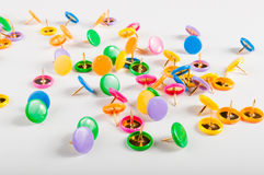 Colorful thumbtacks Stock Image