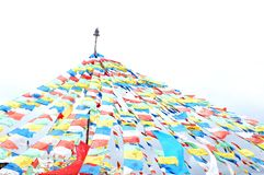 Colorful Tibetan prayer flags Royalty Free Stock Photos