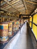 Colorful Tibetan Prayer Wheels. Colorful Prayer Wheels - Roadside Royalty Free Stock Image