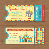 Colorful Tickets For Circus Show Royalty Free Stock Image