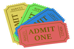 Colorful tickets Royalty Free Stock Images