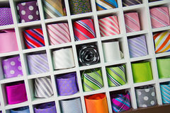 Colorful tie collection Stock Photos