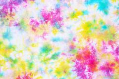 Colorful tie dye pattern abstract background. Colorful tie dye pattern hand dyed on cotton fabric abstract background stock images