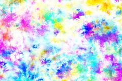Colorful tie dye pattern abstract background. Colorful tie dye pattern hand dyed on cotton fabric abstract background royalty free stock photography