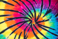 Colorful Tie Dye Spiral Pattern Design Royalty Free Stock Photography