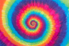 Colorful Tie Dye Spiral Pattern Design Stock Images
