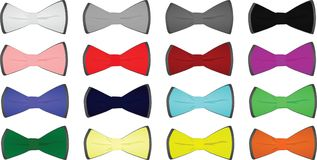 Colorful tie set. Vector illustration Stock Images