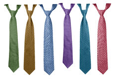 Colorful ties collection Stock Images