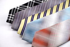 Colorful Ties. Laid against a white background Stock Photography