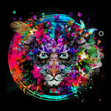 Colorful tiger Stock Photo