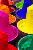 Colorful tika powders. In a market of India , Asia Royalty Free Stock Images