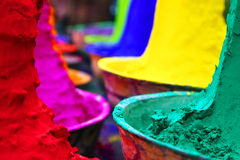 Colorful tika powders. In a market of India , Asia Royalty Free Stock Photography