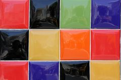 Colorful tile. Background from bright multi-colored tiles Stock Photos