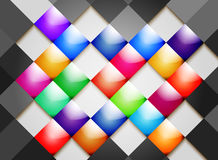 Colorful tile abstract background. Illustration colorful glossy tile abstract background Stock Image