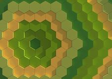 Colorful tile background. An abstract background illustration of colorful hexagonal tiles Stock Photography