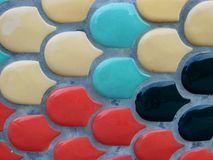 Colorful Tile in Cement stock photography