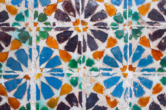 Colorful tile detail, typical in Lisbon, Portugal Royalty Free Stock Image