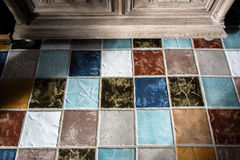 Colorful tile plunch on the floor royalty free stock image