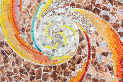 Colorful tile spiral pattern background Royalty Free Stock Photos