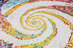 Colorful tile spiral pattern background Royalty Free Stock Photo