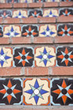 Colorful Tile Steps Royalty Free Stock Images