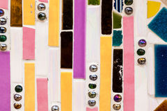 Colorful tile striped pattern background Royalty Free Stock Photo