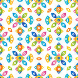Colorful tileable pattern background Royalty Free Stock Images