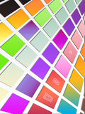 Colorful Tiled Background. Colorful tiles on white background. Please visit my portfolio for more Royalty Free Stock Image