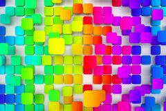Colorful tiled background Royalty Free Stock Images
