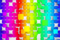 Colorful tiled background Stock Images