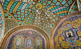 Colorful tiled ceiling of the historical terrace Stock Photography