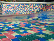 Colorful tiled pool Royalty Free Stock Image