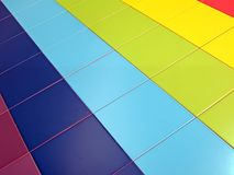 Colorful tiled rectangles construction concept, Stock Image