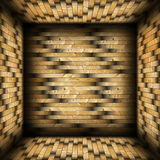 Colorful tiled  wood finishing Royalty Free Stock Images