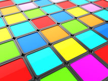 Colorful tiles background. Abstract 3d illustration of colorful tiles background Royalty Free Stock Photo