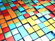 Colorful tiles background. Abstract 3d illustration of colorful tiles background Vector Illustration