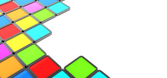 Colorful tiles background Royalty Free Stock Images