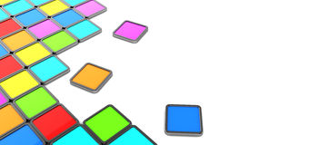 Colorful tiles background Stock Image