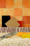 Colorful Tiles for Bathroom Decor. shapes and colors. Royalty Free Stock Photos