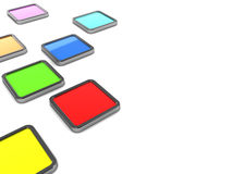 Colorful tiles. 3d illustration of colorful tiles over white background Stock Photo