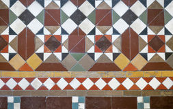 Colorful tiles floor in vintage style Stock Photo
