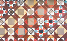 Colorful tiles floor  in vintage style Royalty Free Stock Image