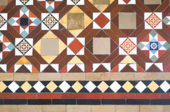 Colorful tiles floor in vintage style Stock Image