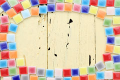 Colorful tiles frame Stock Images