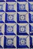 Colorful tiles of Lisbon in a building. Colorful tiles of Lisbon, Portugal royalty free stock photos